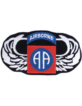 Parachutist Badge with 82 Patch 4in x 7in