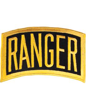 Ranger Tab Gold on Black 6in x 3.25in
