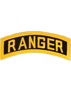 N-059 Ranger Tab Gold on Black 5in