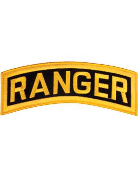 Ranger Tab Gold on Black 8in