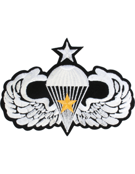 Senior Parachutist Badge with Gold Star Large