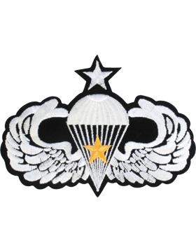 Senior Parachutist Badge with Gold Star Large