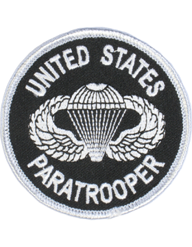 United States Paratrooper Round Patch 3in