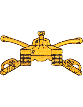 Armor Branch Of Service Tab Gold on Black 3in