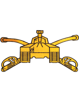 Armor Branch Of Service Tab Gold on Black 8in
