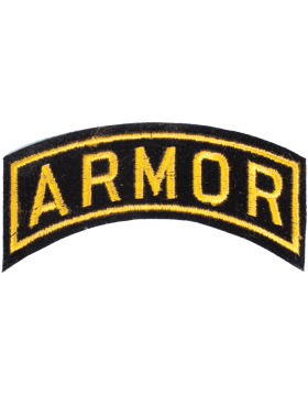 Armor Tab Gold on Black 4in