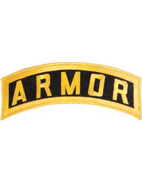 Armor Tab Gold on Black 8in