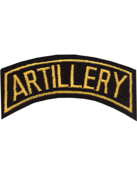 Artillery Tab Gold on Black 4in