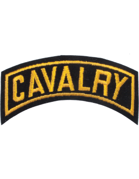 Cavalry Tab Gold on Black 4in