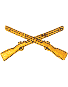 N-103 Infantry Branch Of Service Tab Gold on Black 3in