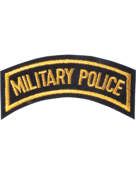 N-107 Military Police Tab Gold on Black 4in