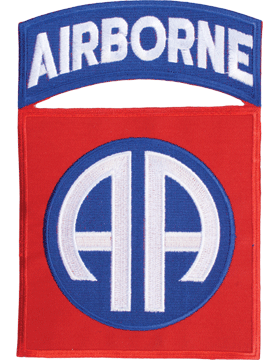 N-134 82 Airborne Patch with Tab 7 1/4in small