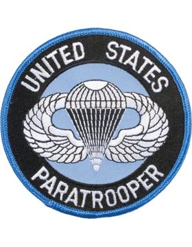 N-135 United States Paratrooper Round Patch 4in small