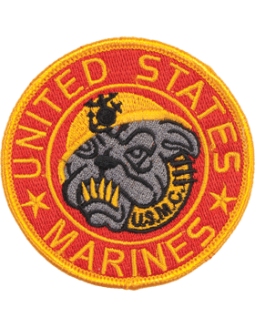 N-138 United States Marines with Bull Dog Patch 3 1/2