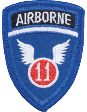 N-164 11 Airborne World War II Patch with Tab small