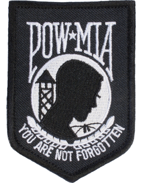 N-203 Prisoner Of War (POW) and Missing In Action (MIA) Patch Black Small