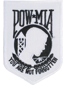 N-204 Prisoner Of War (POW) and Missing In Action (MIA) Patch White Small