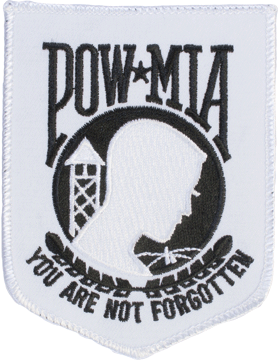 N-205 Prisoner Of War (POW) and Missing In Action (MIA) Patch White Large small