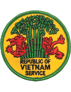N-206 Republic Of Vietnam Service Round Patch 3in small