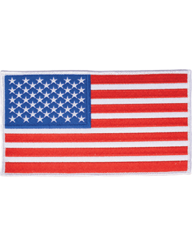 N-402 American Flag 5in x 7in White Border Full Color