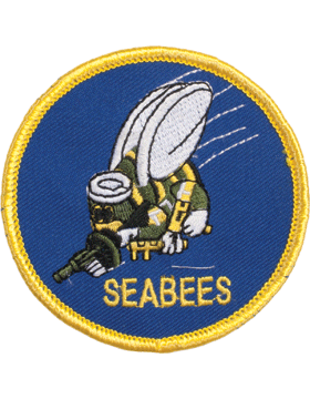 N-405 Seabees Round Patch with Gold Border 3
