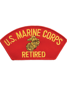 N-411 United States Marine Corps Retired Cap Patch Red