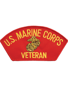 N-412 United States Corps Veteran Cap Patch Red
