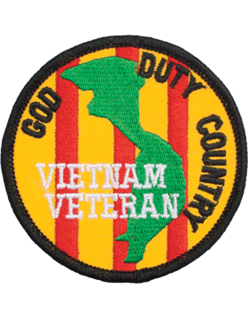 N-418 God/Duty/Country Round Patch 3in