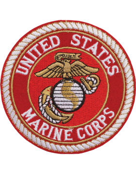 N-450 United States Marine Corps Patch with Globe On Red 4