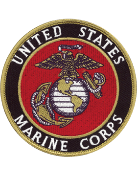 N-451 United States Marine Corps Patch with Globe On Black 4