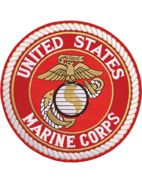 N-452 United States Marine Corps Patch with Globe On Red 7 1/2