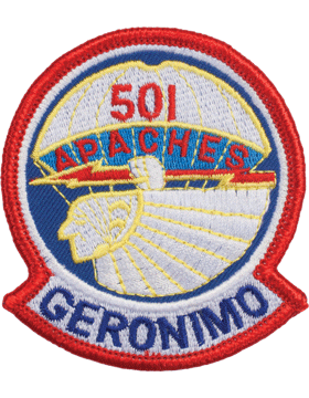 N-458 501 Apaches Geronimo Patch