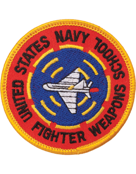 N-461 United States Navy Fighter Weapons School Round Patch 3in