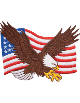 N-469 Eagle On U.S. Flag 3 1/2in