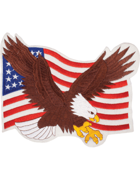 N-470 Eagle On U.S. Flag 10in