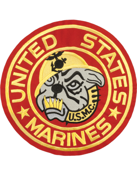 N-473 United States Marines with Bulldog Round Patch Red 10