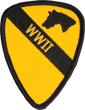 N-477 1 Cavalry World War II Patch 3 1/2in