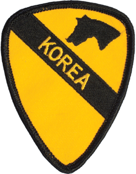 N-478 1 Cavalry Korea Patch 3 1/2in