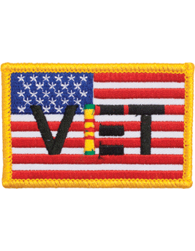 N-483 US FLAG with VET VIET SER RBN 2in X 3in