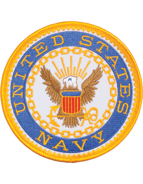 N-485 United States Navy with Eagle Round Patch 4in