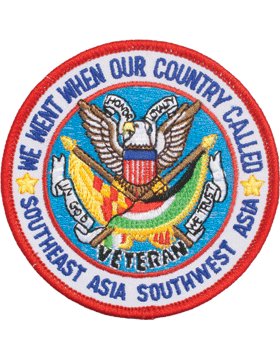 N-502 Southwest Asia inWe Went When Our Country Calledin Round Patch 3 1/2in