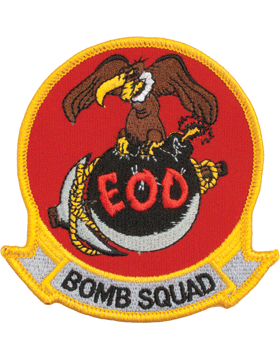 N-503 Explosive Ordnance Disposal Bomb Squad with Buzzard Patch 4in