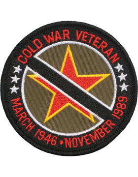 N-506 Cold War Veteran inMarch 1946-Nov 1989in Round Patch 3 1/2in