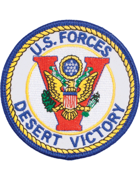 N-509 United States Forces Desert Victory Round Patch 3 1/2in