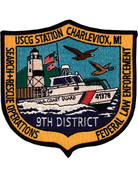 N-CG016 United States Coast Guard Station Charleviox Michigan Patch