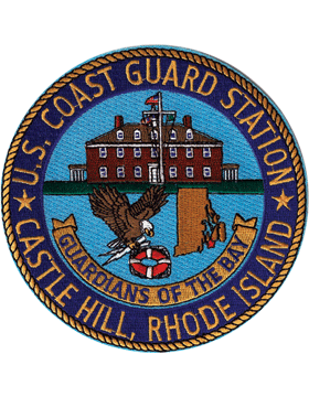 N-CG017 United States Coast Guard Station Castle Hill Rhode Island Patch