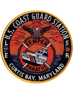 N-CG022 United States Coast Guard Station Curtis Bay Maryland Patch small