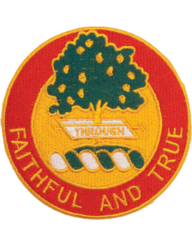 N-DUI-0005 5 Field Artillery inFaithful And Truein Patch with Heat Seal 3 1/2in
