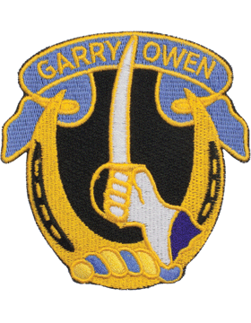 N-DUI-0007 7 Cavalry inGarry Owenin Patch with Heat Seal 3 1/2in