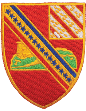 N-DUI-0017F 17 Field Artillery (No Motto) Patch with Heat Seal 3 1/2in